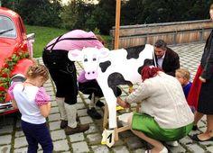 DIY outdoor wedding game // hochzeitsspiel // kuh melken