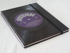 Geschenke für Männer - Schallplatte ROCKABILLY Notizbuch Vinyl - ein Designerstück von Aurum bei DaWanda