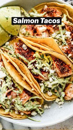 Healthy Dinner Recipes, Mexican Food Recipes, Vegetarian Recipes, Cooking Recipes, Fish Taco Recipes, Healthy Mexican Food, Healthy Fish Tacos, Easy Fish Tacos, Dump Recipes
