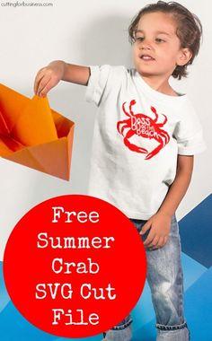 Free Boss of the Beach Crab SVG Cut File - Silhouette Cameo & Cricut Explore - by cuttingforbusiness.com