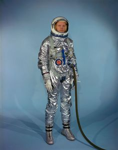 Neil Armstrong in Gemini G-2C training suit.