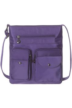 (This is an affiliate pin) Crossbody Bags for Women Multi Pocket Shoulder Bag Waterproof Nylon Travel Purses and Handbags Lightweight Work Bag