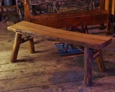 xtra large   rustic maple bench