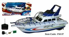 Amazon.com: Radio Control Fire Fighting Boat - FM57 18 Inch RC Boat - Color May Vary: Toys & Games