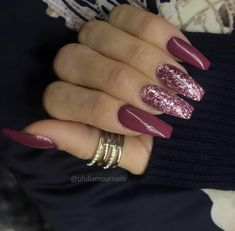 80 ideas to create the best Halloween nail decoration - My Nails Fancy Nails, Cute Nails, Pretty Nails, Burgundy Nails, Purple Nails, Long Nail Designs, Nail Art Designs, Hair And Nails, My Nails