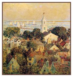 Provincetown Massachusetts Seascape by American Impressionist Painter Childe Hassam Counted Cross Stitch or Counted Needlepoint Pattern