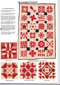 22 - les étoiles - un seul bloc est décomposé mais il est facile de redessiner les autres