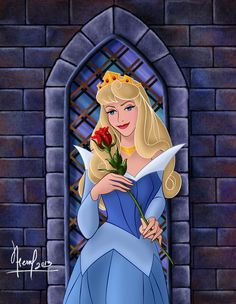 Shared by Find images and videos about rose, disney princess and aurora on We Heart It - the app to get lost in what you love. Disney Kunst, Arte Disney, Disney Art, Disney Magic, Disney Movies, Disney Characters, Disney Princesses, Sleeping Beauty Art, Sleeping Beauty Maleficent