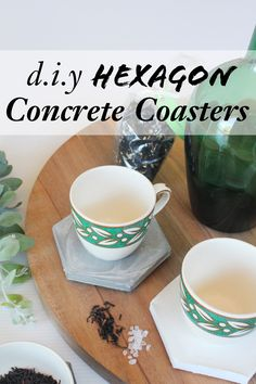 diy hexagon concrete coasters