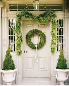 Green Christmas Front Door