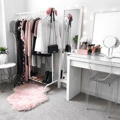 Wardrobe inspiration, beauty room, makeup vanity, IKEA Malm Dressing Table (room inspiration bedroom)
