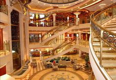That would be the lobby of a Princess Cruise ship. One of the best trips of my life. Taking Dave on a cruise, hopefully one day soon.