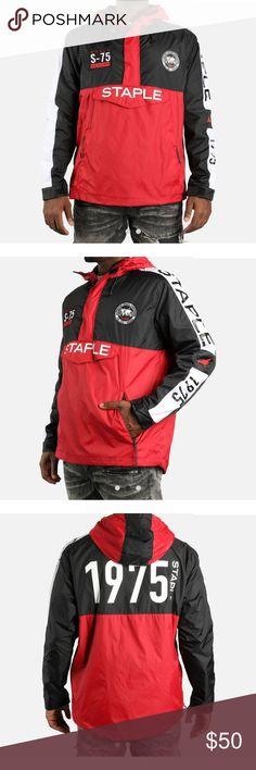Staple Anorak SMU Windbreaker Jacket Staple Nylon Anorak SMU Men's Windbreaker Pullover Jacket Staple Jackets & Coats Windbreakers