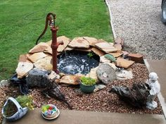 Displaying antique pumps in your garden