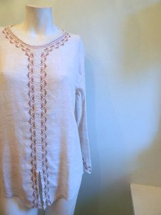 vintage. Cream Oatmeal Color Cotton Indian Tunic / by styleforlife, $42.25