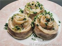 Гуль-ханум по-украински Baked Potato, Cantaloupe, Food To Make, Potatoes, Cooking Recipes, Baking, Fruit, Ethnic Recipes, Food Recipes