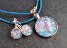 Ohrringe - Set Kette & Ohrringe silberfarben - ein Designerstück von colorful-daydreams bei DaWanda
