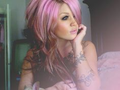 in my dreams... pink or lavender hair and no shame tattoos on my arms