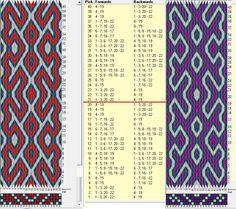 22 tarjetas, 3 colores, repite cada 20 movimientos // sed_1071 diseñado en GTT༺❁