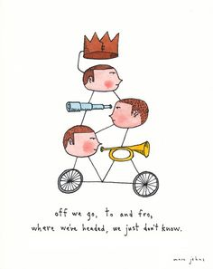 off we go, to and fro (by Marc Johns)