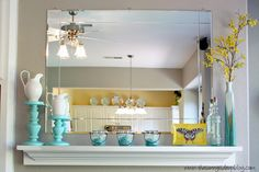 Mantle turquoise/yellow
