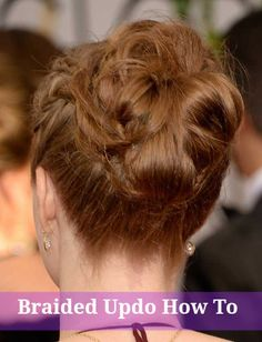 How to get Amy Adam's playful braided updo