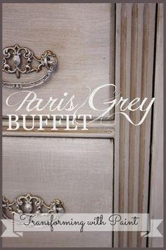 chalk painted furniture ideas | Chalk Paint (& other painted) Furniture Ideas / Paris grey buffet. One ...