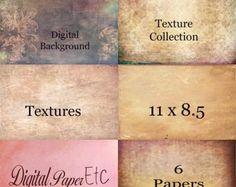 Fine Art Digital Paper Grunge Scraps Textured Scrap Book