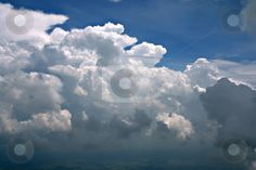 Rolling Thunder clouds stock photo