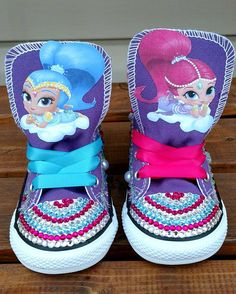 Purple Genie Converse Shoes Shimmer and Shine Converse