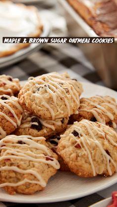 Fall Dessert Recipes, Desserts For A Crowd, Fall Recipes, Sweet Recipes, Fall Desserts, Maple Brown Sugar Oatmeal, Maple Sugar, Oreo Torta, Baking Recipes