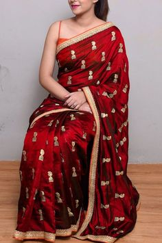 Buy Party wear Sarees Online with All Types Collections Like Designer Party Wear saree,Bollywood party wear saree,Silk Party wear saree,wedding party wear saree and More. Silk Saree Blouse Designs, Lehenga Designs, Fancy Sarees, Party Wear Sarees, Maroon Saree, Silk Sarees Online Shopping, Designer Silk Sarees, Designer Dresses, Indian Sarees Online