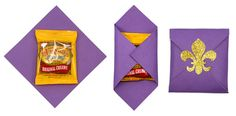 Cute candy packaging idea with fleur de lis sticker & cardstock