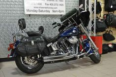 Used 2012 Harley-Davidson Heritage Softail® Classic Motorcycles For Sale in Oklahoma,OK. The 2012 Harley-Davidson Heritage Softail Classic motorcycle FLSTC is fully equipped with modern touring capabilities and even has a removable motorcycle windshield. New for 2012, the Harley Heritage Softail Classic features a powerful, new, larger air-cooled Twin Cam 103 Harley engine with 6-speed cruise drive tranmission, providing more performance power for passing, hill-climbing, and riding with…