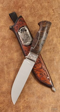 """""""Друг"""" Cool Knives, Knives And Tools, Knives And Swords, Benchmade Knives, Bushcraft Knives, Dagger Knife, Knife Art, Metal Engraving, Knife Handles"""