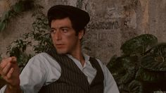 Al Pacino's character, Michael Corleone, hides out in the countryside in Sicily