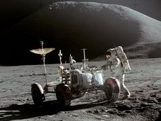 July 30, 1971 – David Scott and James Irwin on the Apollo Lunar Module land on the Moon with the first Lunar Rover.