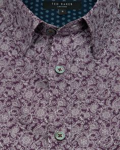 Floral print shirt - Purple | Shirts | Ted Baker