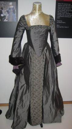 """""""The Tudors"""" Anne Boleyn execution dress."""