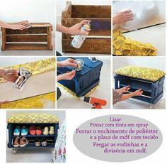 DIY puff  com caixote