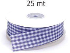 Varie - Nastro a Quadretti Viola mm.25 metri 25 - un prodotto unico di raffasupplies su DaWanda