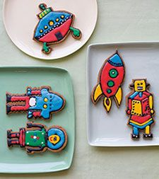 Krystina Castella Crazy about Cookies (Sterling Publishing) Robot Cookies