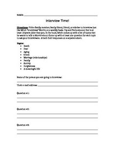 tuesdays with morrie essay prompts This is a backwards-design lesson plan for ending tuesdays with morrie it focuses on the point or this is the letter to mitch assignment and rubric that is a wonderful closing activity for the book, tuesdays with morrie 27 offbeat college essay topics (writing prompts) - could also be used by high school students.