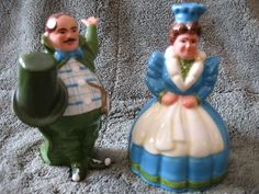 Wizard of Oz Munchkins Salt and Pepper Shakers 1998 Warner Brothers | eBay