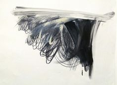 """Jay DeFeo by rocor, via Flickr: Study for """"Bride"""", 1986. Acrylic, graphite, charcoal and chalk on paper (1929-1989) de Young Museum"""