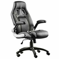 FURGLE PU Leather High Back Office Chair Executive Task Ergonomic Computer Desk #affilink High Back Office Chair, Art Desk, Pu Leather