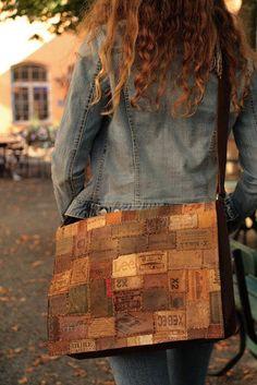 Large messenger bag, laptop bag, rocker bag made of recycled designer jeans… Leather Briefcase, Leather Bag, Leather Jeans, Large Messenger Bags, Crossover Bags, Designer Shoulder Bags, Boho Bags, Recycled Denim, Denim Bag
