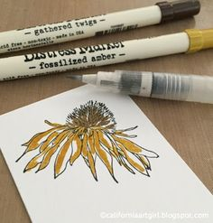 Richele Christensen: Coloring with Distress Markers! Distress Markers, Tim Holtz Distress Ink, Alcohol Markers, Copic Markers, Alcohol Inks, Colouring Techniques, Painting Techniques, Card Tutorials, Painting Tutorials