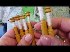 Remate Belga - Cierre en recto - Bolillotutorial Raquel M. Adsuar - YouTube Irish Crochet, Crochet Lace, Bobbin Lace Patterns, Lace Heart, Lace Jewelry, Needle Lace, Lace Making, Lace Detail, Sewing