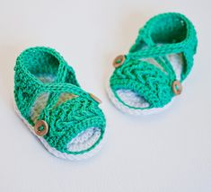 Instant download - Baby Booties Crochet PATTERN (pdf file) - Chevron Sandals